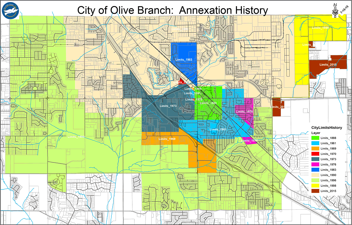 City Maps City Of Olive Branch MS - Ms map