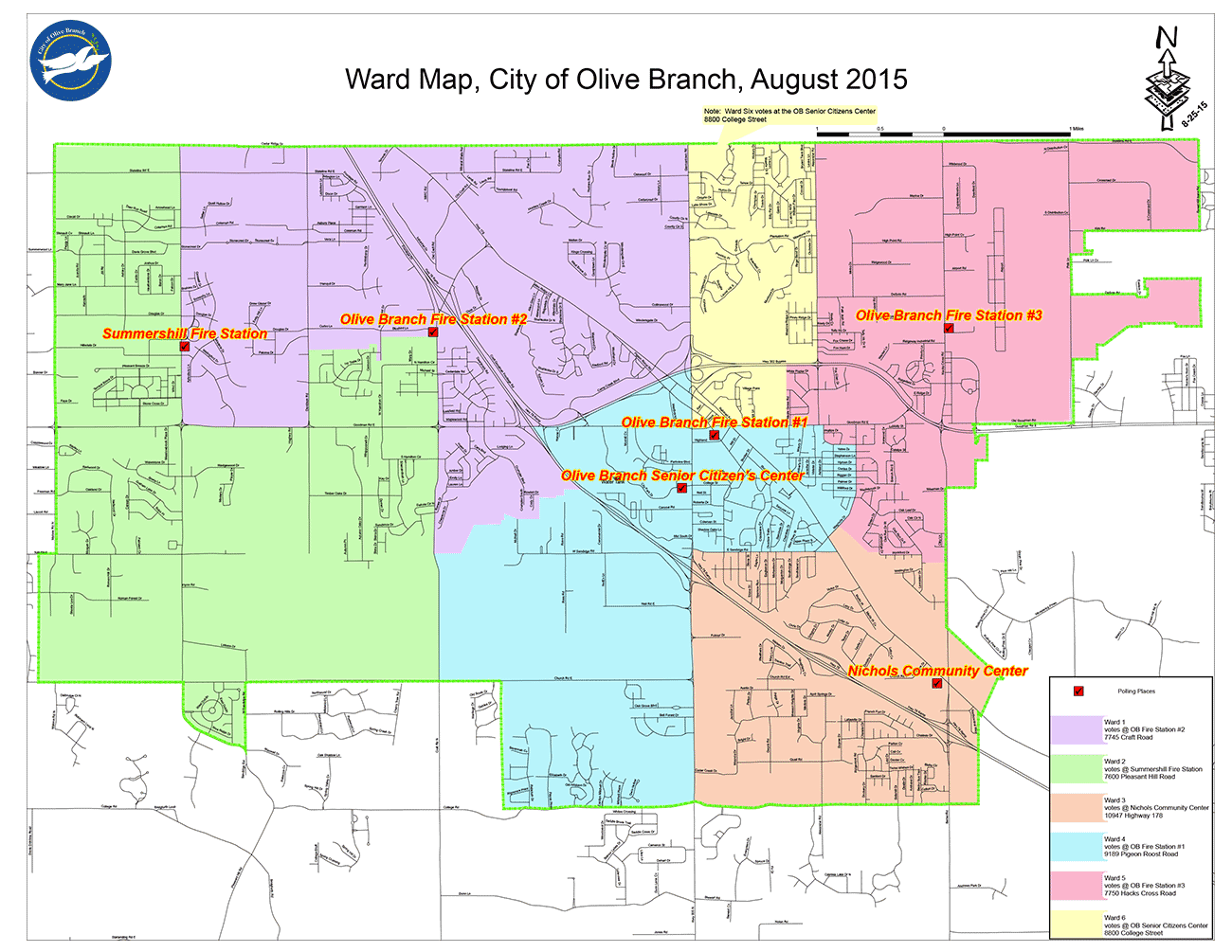 City Maps City Of Olive Branch MS - District of downloadable us road map